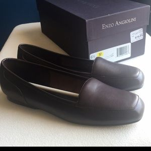 BRAND NEW Cocoa-Brown Leather Loafers